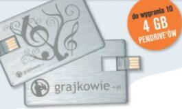 Wygraj 4 GB pendrive Grajkowie.pl