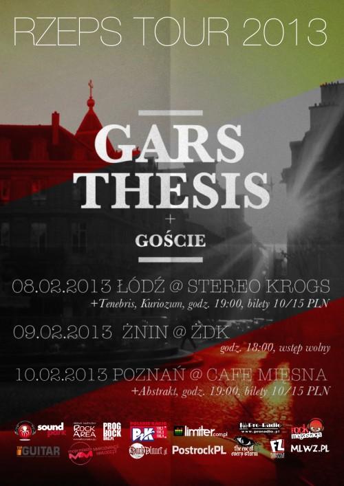 W lutym trzy koncerty Thesis, Gars i ich gości