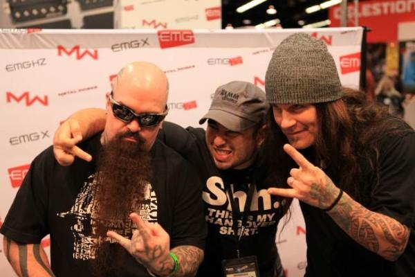 Kerry King (Slayer) z lewej. Z prawej Phil Demmel (Machine Head)