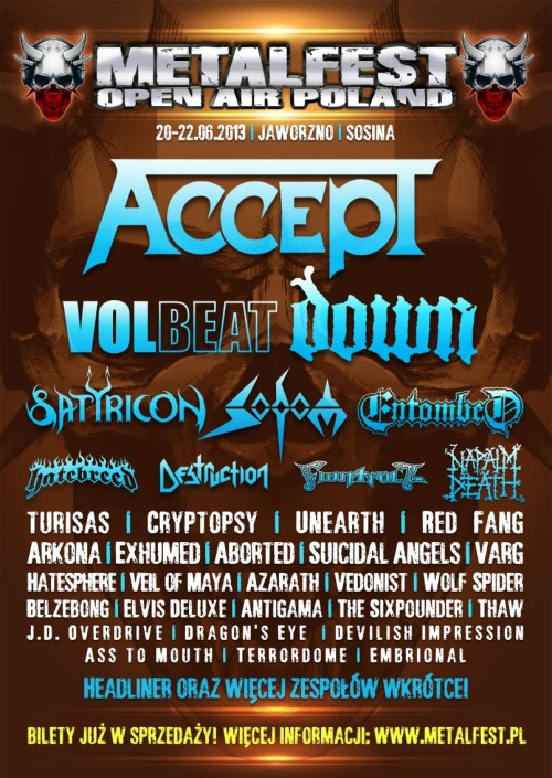 MetalFest 2013 accept