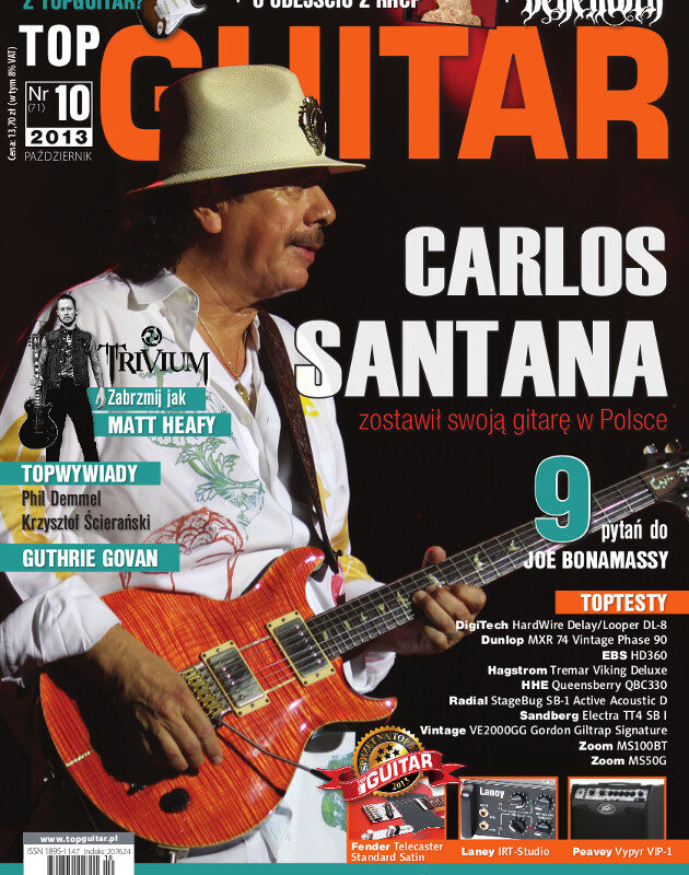 Październikowy TopGuitar z Carlosem Santaną