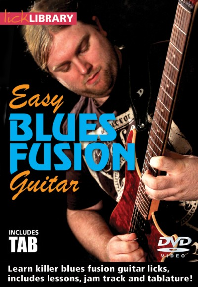 """Szkoła DVD """"Easy Blues Fusion Guitar"""" od Lick Library"""