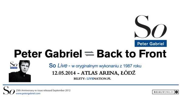 Bilety na Petera Gabriela już w sprzedaży