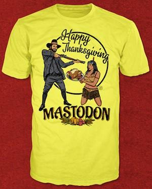 Kontrowersyjny T-shirt Mastodon