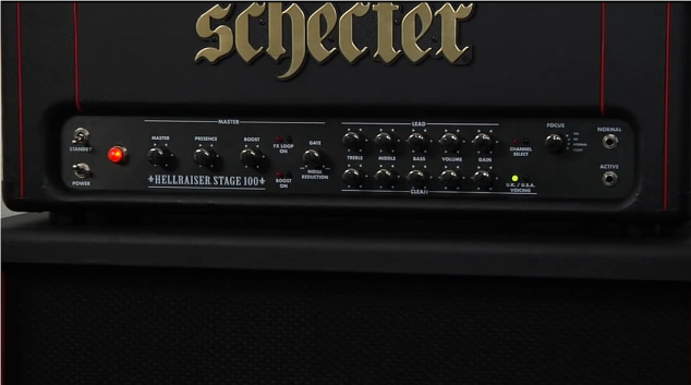 Schecter Hellraiser – demonstracja wzmacniacza (wideo)