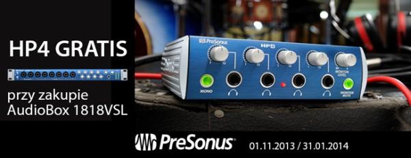 Wzmacniacz słuchawkowy PreSonus HP-4 GRATIS