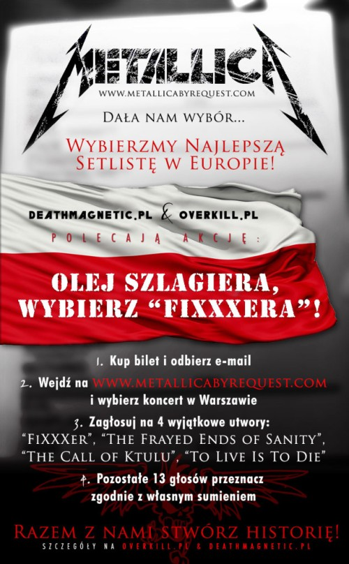 Metallica na Sonisphere: akcja polskich fanów