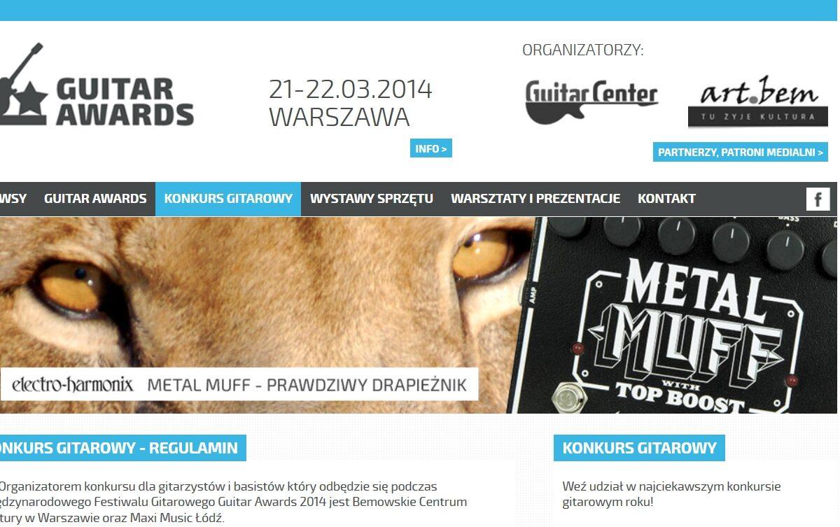 Ruszyła witryna internetowa festiwalu Guitar Awards