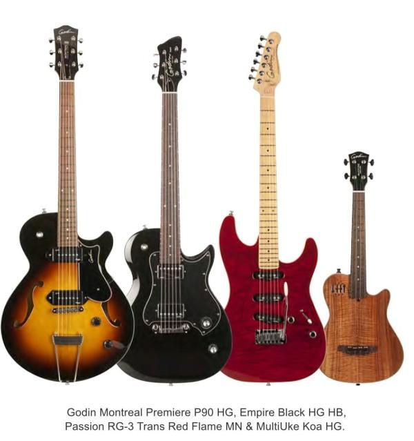 Godin NAMM 2014 guitars