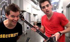 Zniszczony Gibson w ukrytej kamerze