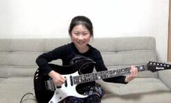 """8-letnia gitarzystka gra Paula Gilberta/Racer X """"Scarified"""""""