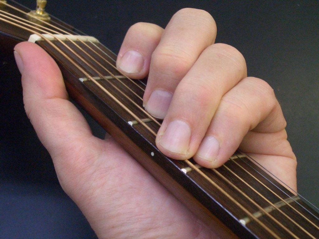 Akord - chwyt gitarowy - C-dur