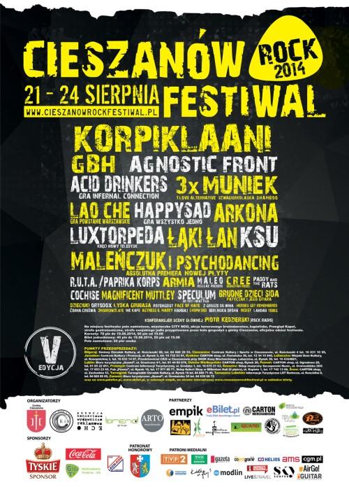 Ostateczny program Cieszanów Rock Festiwal 2014