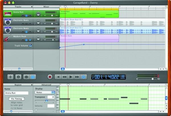 GarageBand 2 wielościeżkowy edytor audio