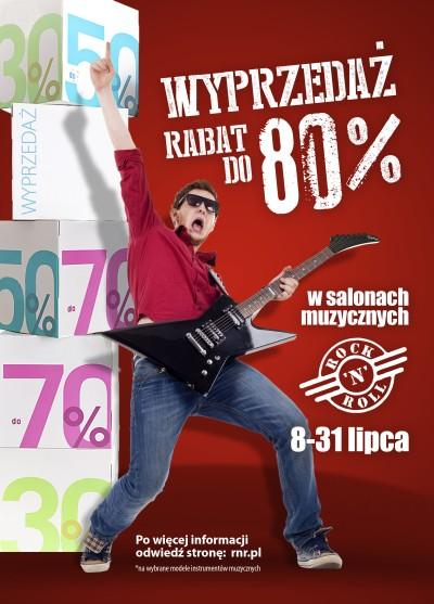 Wyprzedaż w sklepach Rock'n'Roll