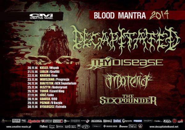 decapitated blood mantra tour 2014