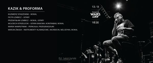 Kazik Staszewski & Kwartet Proforma rejestrują koncert