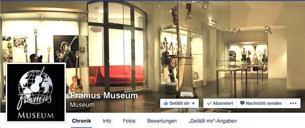 Muzeum Framus na Facebooku