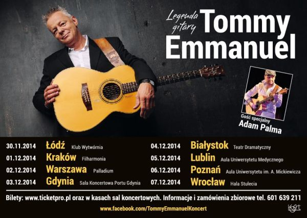Tommy Emmanuel rozpoczął trasę po Polsce