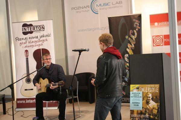 Warsztaty gitarowe Roberta Kordylewskiego podczas Music Lab 2014