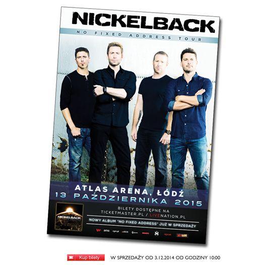 Nickelback w łódzkiej Atlas Arenie