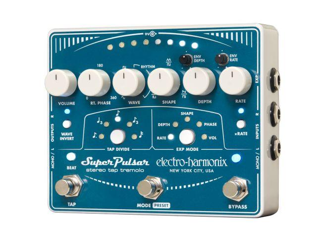 EHX Super Pulsar Stereo Tap Tremolo