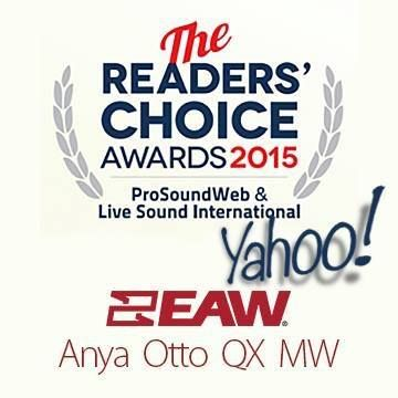 EAW z nagrodami Pro Sound Web Reader' Choice AWARD 2015