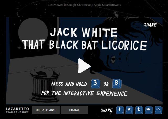 Interaktywny teledysk Jacka White'a