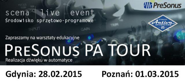 Warsztaty PreSonus PA tour