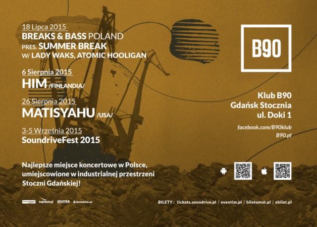 Bilety na wydarzenia w klubie B90 w Gdańsku