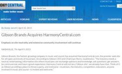Harmony Central własnością Gibson Brands