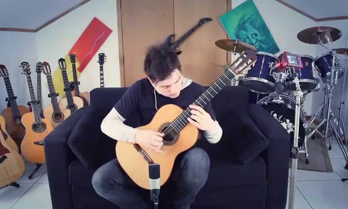 Muzyka z Super Mario Bros na gitarze klasycznej