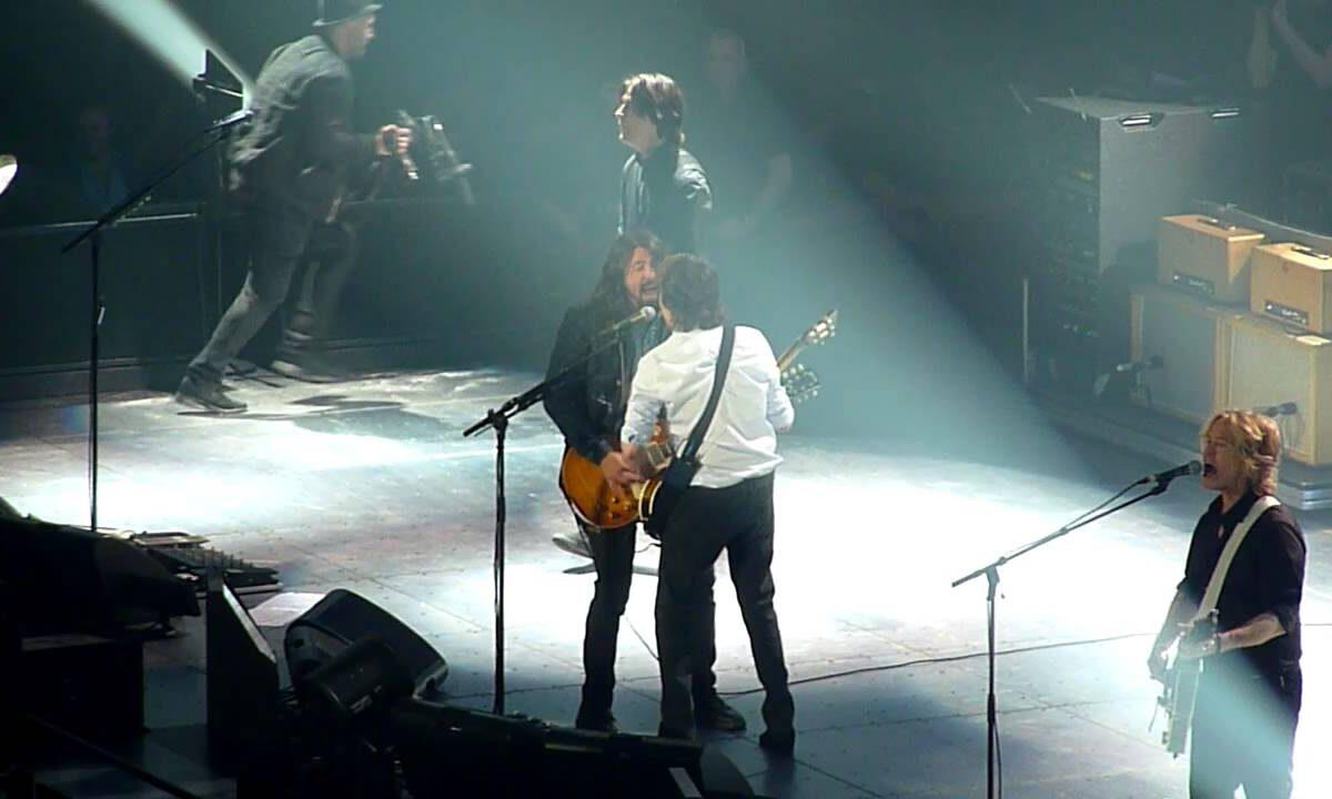 Paul McCartney z Davem Grohlem na jednej scenie