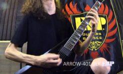 Jack Fliegler prezentuje gitarę ESP LTD Arrow-401