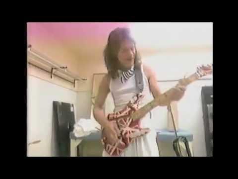 Eddie van Halen naśladuje konia i słonia na gitarze