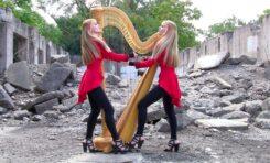 """Metallica """"One"""" i bliźniaczki na harfie"""
