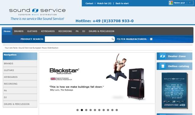 Nowa strona internetowa Sound Service