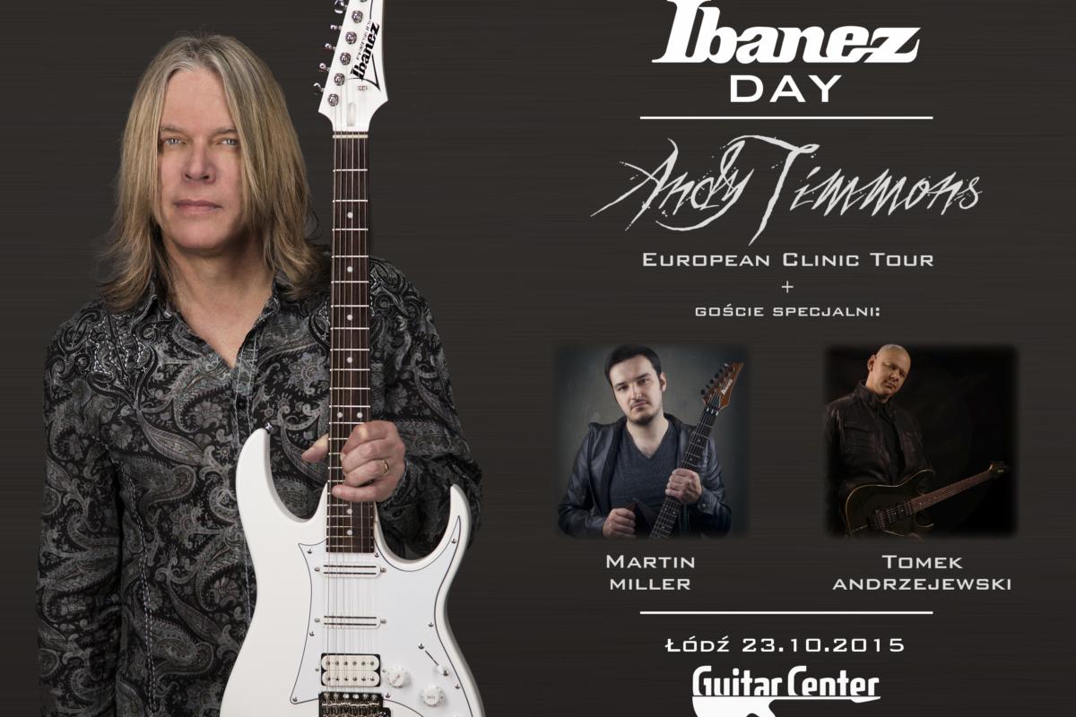 Warsztaty Andiego Timmonsa w ramach Ibanez Day w łódzkim Guitar Center