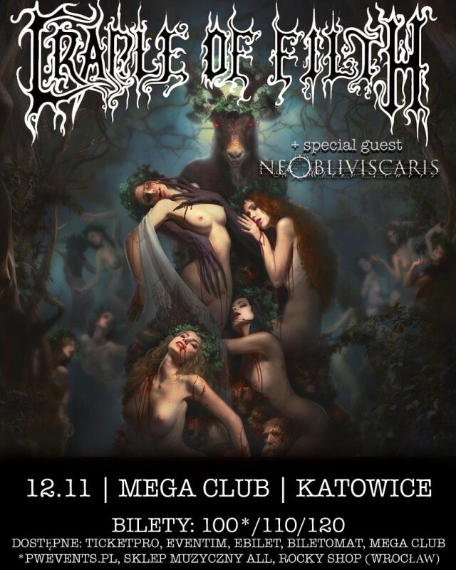 Wygraj bilet na Cradle of Filth w Katowicach