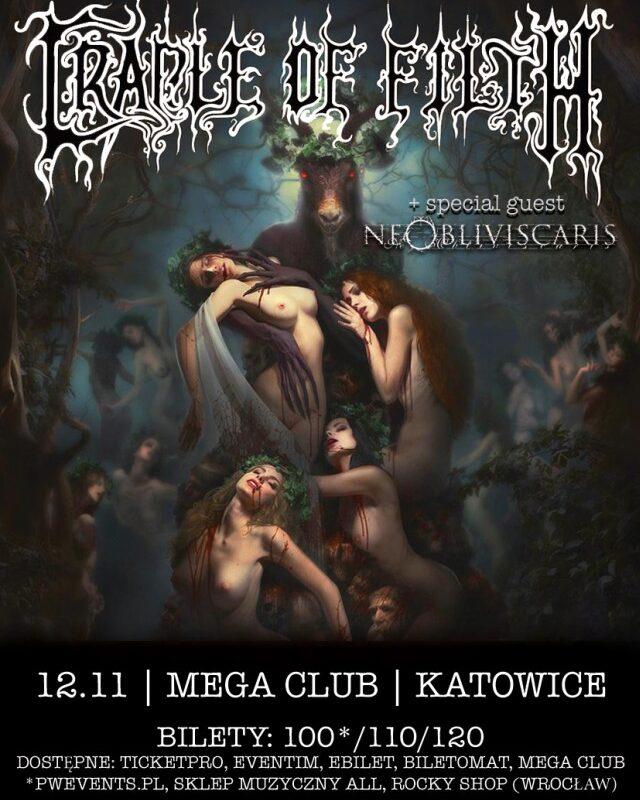 Cradle of Filth za tydzień w Polsce