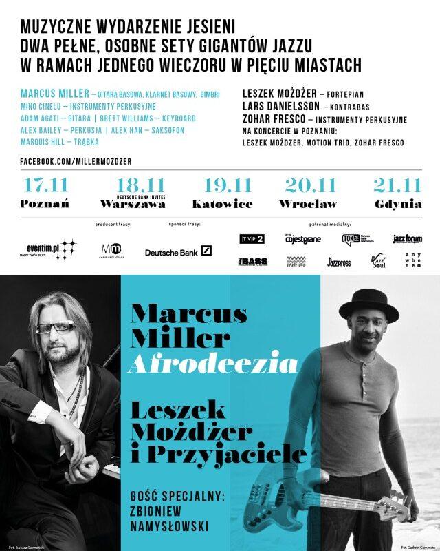 Marcus Miller Afrodeezia / Leszek Możdżer i przyjaciele