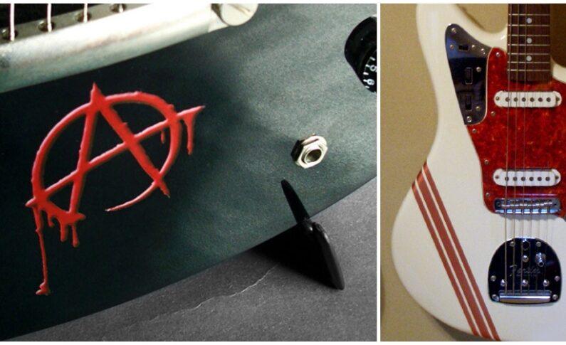 Naklejki gitarowe nie tylko na szyjki...