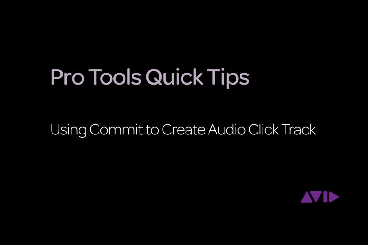 Warsztaty Avid Pro Tools: funkcja Commit