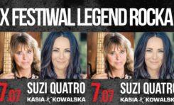 Wygraj 2 podwójne bilety na koncert Suzi Quatro i Kasii Kowalskiej podczas X Festiwalu Legend Rocka w Dolinie Charlotty
