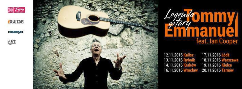 "Tommy Emmanuel – polska trasa koncertowa ""It's Never Too Late"""
