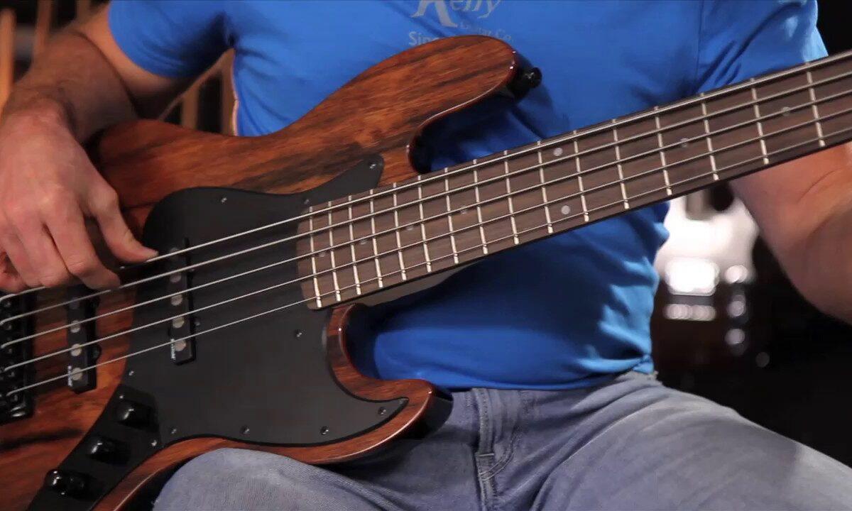 Prezentacja brzmienia gitary basowej Michael Kelly Custom Collection Element 5