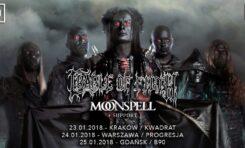 Cradle of Filth, Moonspell, Sacrilegium – Gdańsk, B90, 25. stycznia 2018