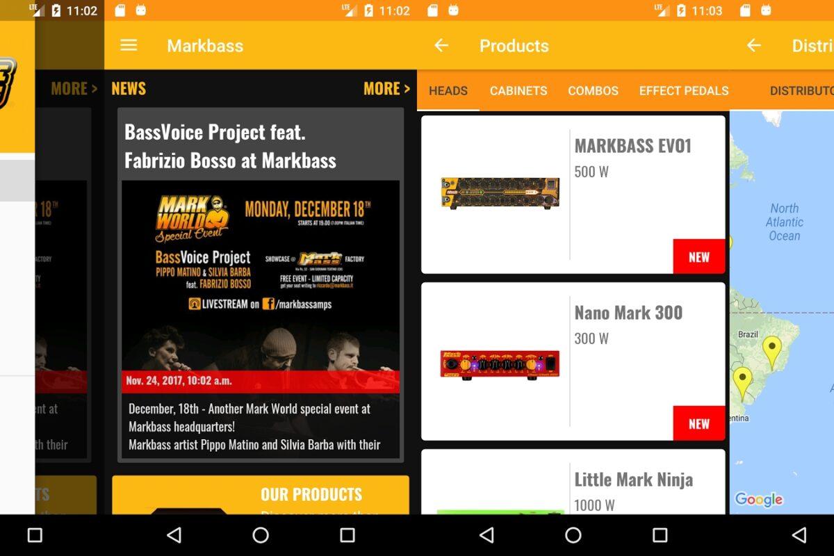 Aplikacja Markbass dla urządzeń mobilnych