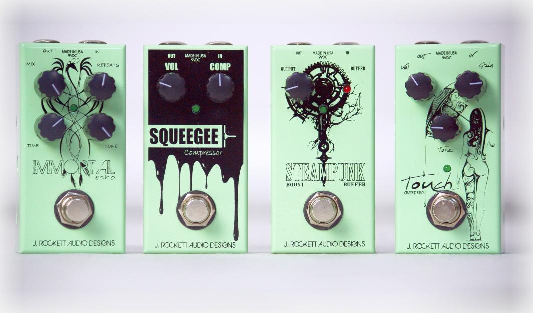 J. Rockett Audio Designs JET Series Touch, Immortal, Squeegee oraz Steampunk