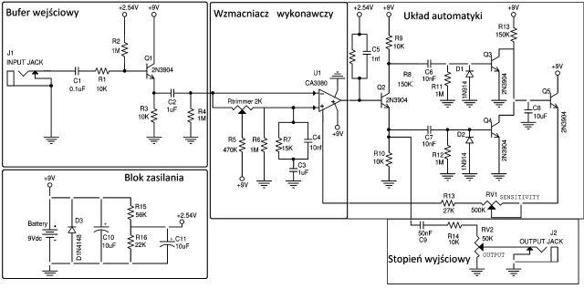 MXR Dyna Comp - schemat budowy